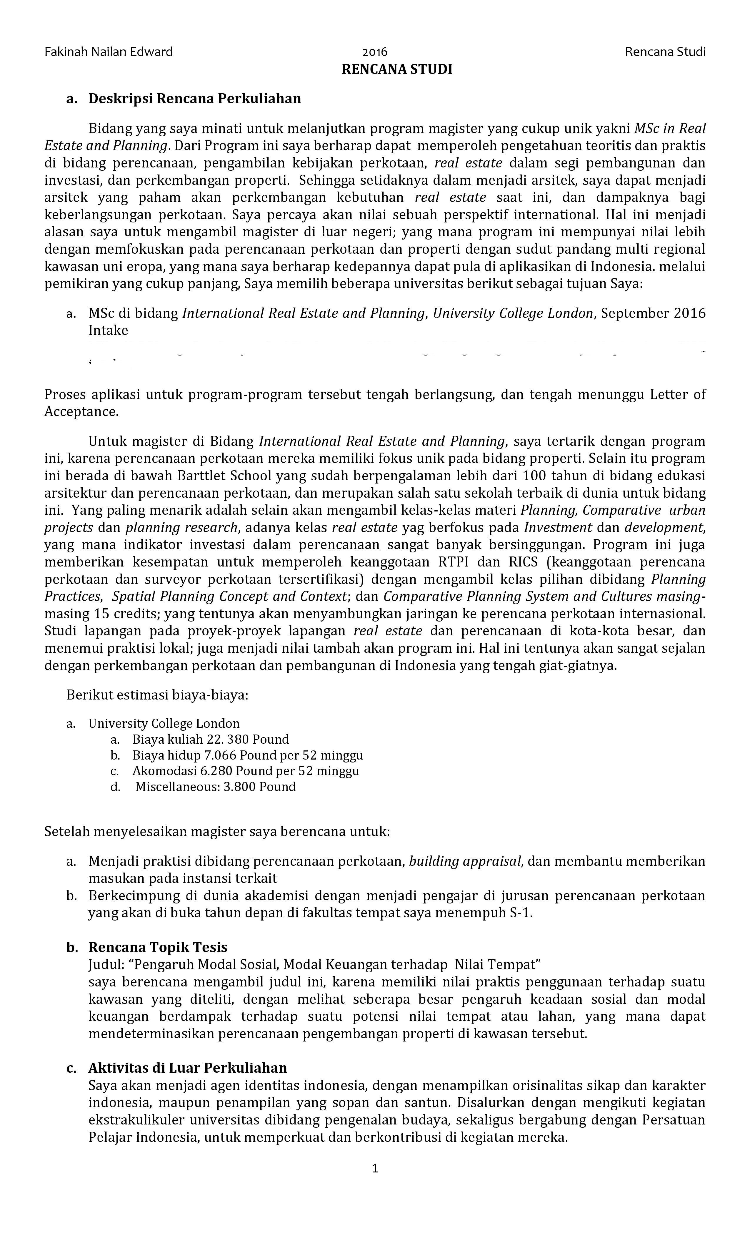 essay rencana penggunaan beasiswa
